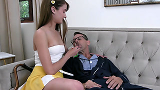 Fit Nympho Zoe Sparx Gives Her Pussy To A Step Grandpa