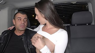 Alluring Busty Sexpot Mea Is Picked Up And Fucked Well In The Car