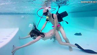 Kinky Gal With Oxygen Tanks Monica Fucks Underwater Mad