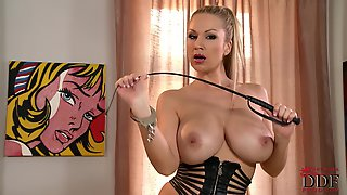 Carol Goldnerova Busty Mistress Plugs Her Butthole