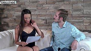 Rookie Fucks Sex-appeal Czech Model Mea Melone In Front Of Camera