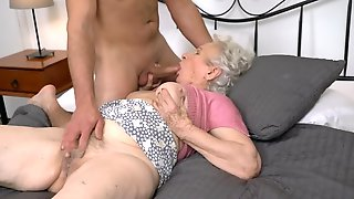 Dream Of Sex Comes True With Young Dick In Grannys Vagina