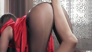 Pavla And Bree Haze - Lesbian Pantyhose Fetish Sex With Toy