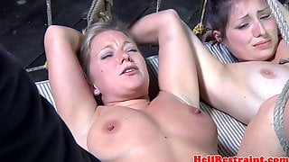 Tiedup Bdsm Subs Tied Together In Harsh Three