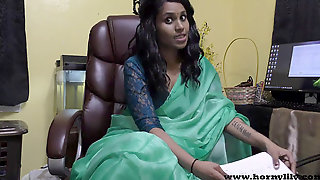 Hindi Romp Instructor Gives A JOI Indian