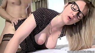 French MILF In Glasses Hard Porn Video
