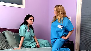 Sweet Lesbian Love Making Between Nurses Aiden Starr And Lily Lovely