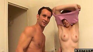 Sensual Brunette Milf Has A Stud Drilling Her Tight Ass Video Part 1