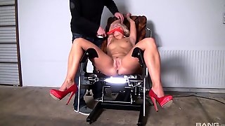 Naked Blonde Gets Gagged And Roughly Fucked For A Complete Fetish XXX