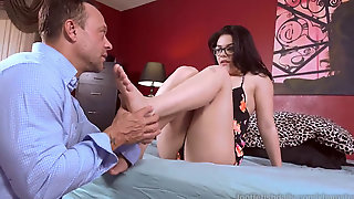 Molten Babe Has Soles Worshipped And Fucked Good