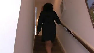 Spying Sexy Aunt Dress Up Skirt Stockings