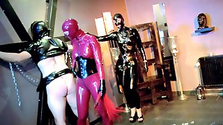 Latex Fantasy For The Nude Women And Their Male Slave