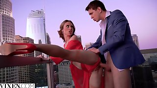 YOUNG SLUT Anya Olsen Treats Her Man Well - Outdoor Sex On The Balcony