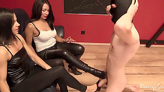 Soles Fuckslut - Brilliant Footrest For Mistress Mera And Lady G