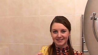 Beautiful Brunette Sveta G. Shows Engulfing Skills