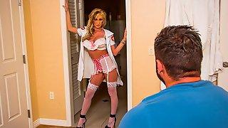 Golden Blonde Hooker Nadia Hilton Feels A Long Dick Inside
