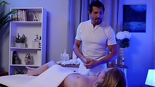Athena May Receives A Happy Ending Massage From Her Friends Dad
