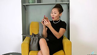 Mature Asian Nympho Lira Kissy Cannot Get Enough From Working On Her Twat