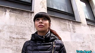 Amateur Brunette Slut Mona Kim Gets Paid To Have Sex In The Open