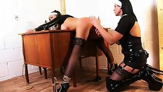 Mistress Nun Dominates Sexy Blonde