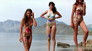 NUDIST TEENS BODYPAINT Full VID # 2