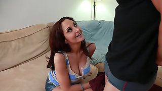 Ava Addams Tittyfucks Sons Friend Until Her Pink Pussy Is Moist And Ready For His Dick