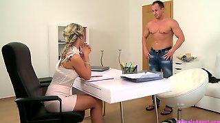 Handsome Stud Penetrates Slut Caitlin During The Job Interview