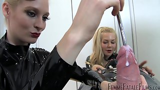 Kinky Latex Fetish Games In FFM Threesome Way With Naughty Mistress Eleise De Lacy