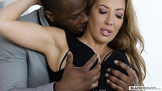 Blonde MILF Cheats On Hubby With Ebony Stud