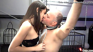 Super Hot Youthfull Mistress Dominates Older Man In The Attick