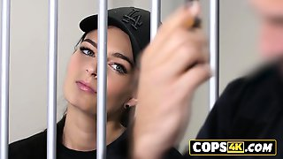 Horny Officer Is Pounding A Teens Pussy