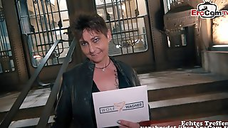 German Ugly Milf Public Pick Up Street EroCom Date Casting With Big Natural Boobs