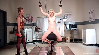 Petite Blonde Brutally Dominated By Her Mistress - Full Femdom