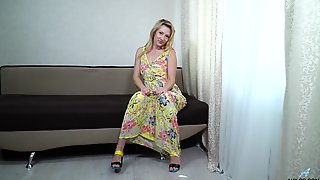Blond Housewife Sunshine Is Masturbating Pussy In Different Positions