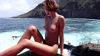 Outdoor Erotic Video With Skinny Ariela With Craving For Attention Puss