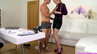 Handsome Stud Uses The Chance To Fuck Amazing Female Agent Alexis