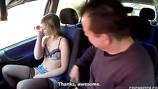 Slutty European Teen Opens Her Crack For A Filthy Driver