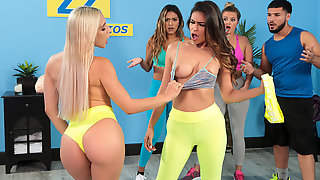 Working Out Their Anger Free Video With Abella Danger - BRAZZERS