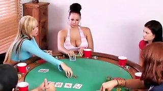 Poker Soiree - He Blows A Load Premature At The Inhale Off Contest