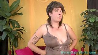 Very Hairy Vicki Juniper Even Has Hair On Her Nips