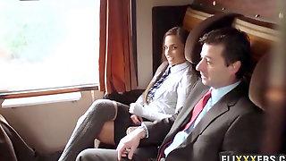 Smashing Handsome Teenage On The Train