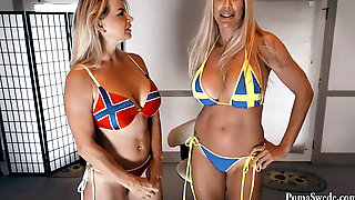 Bts With Vicky Vette! Norway VS Sweden Cunny Challenge!