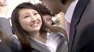 Azumi Mizushima Mega-slut Penetrated Dressed In The Bus