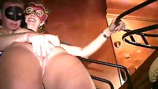 Masked MILFs Fellate Trunk And Pummel At Trapeze Club EyesWideShut Orgy