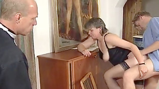 Swedish GILF Martha Karlsson Screws The Priest (2 Scenes)