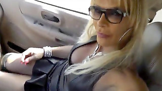 Leather Biotch T-girl Swallow