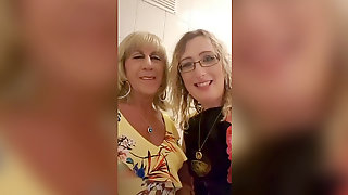 Essex Doll Lisa And Tgirl Pauline In The Club Toilets