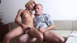 Daddy Fucks Towheaded T-girl German