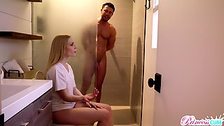 Blowjob, Shower