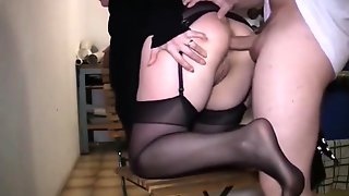 Busty Amateur Milf In Stockings Has A Passion For Anal Sex